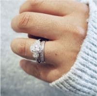 0.25cts Double Row of Diamonds Ring